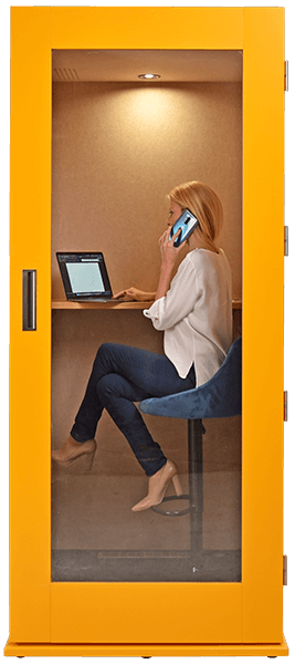 meavo office phone booth transparent